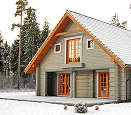 Строительство домов из лафета в Саки